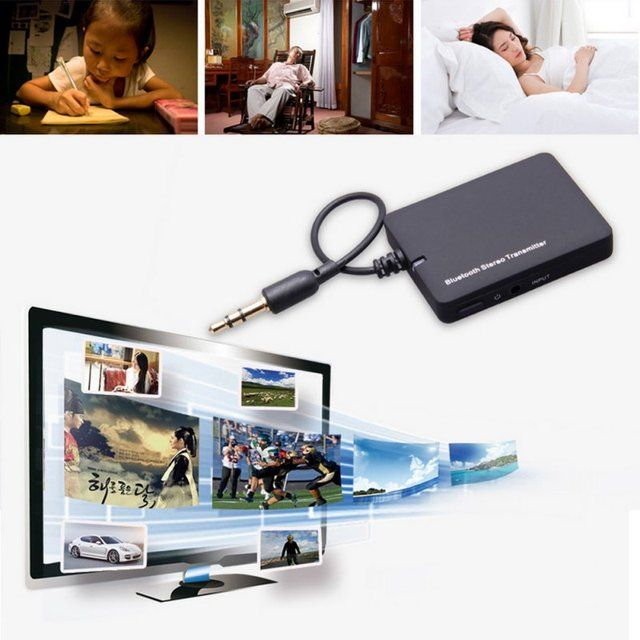Mini 3.5mm Bluetooth Audio Transmitter A2DP Stereo Dongle Adapter for TV Mp3 Mp4 PC Bluetooth Audio Music Receiver