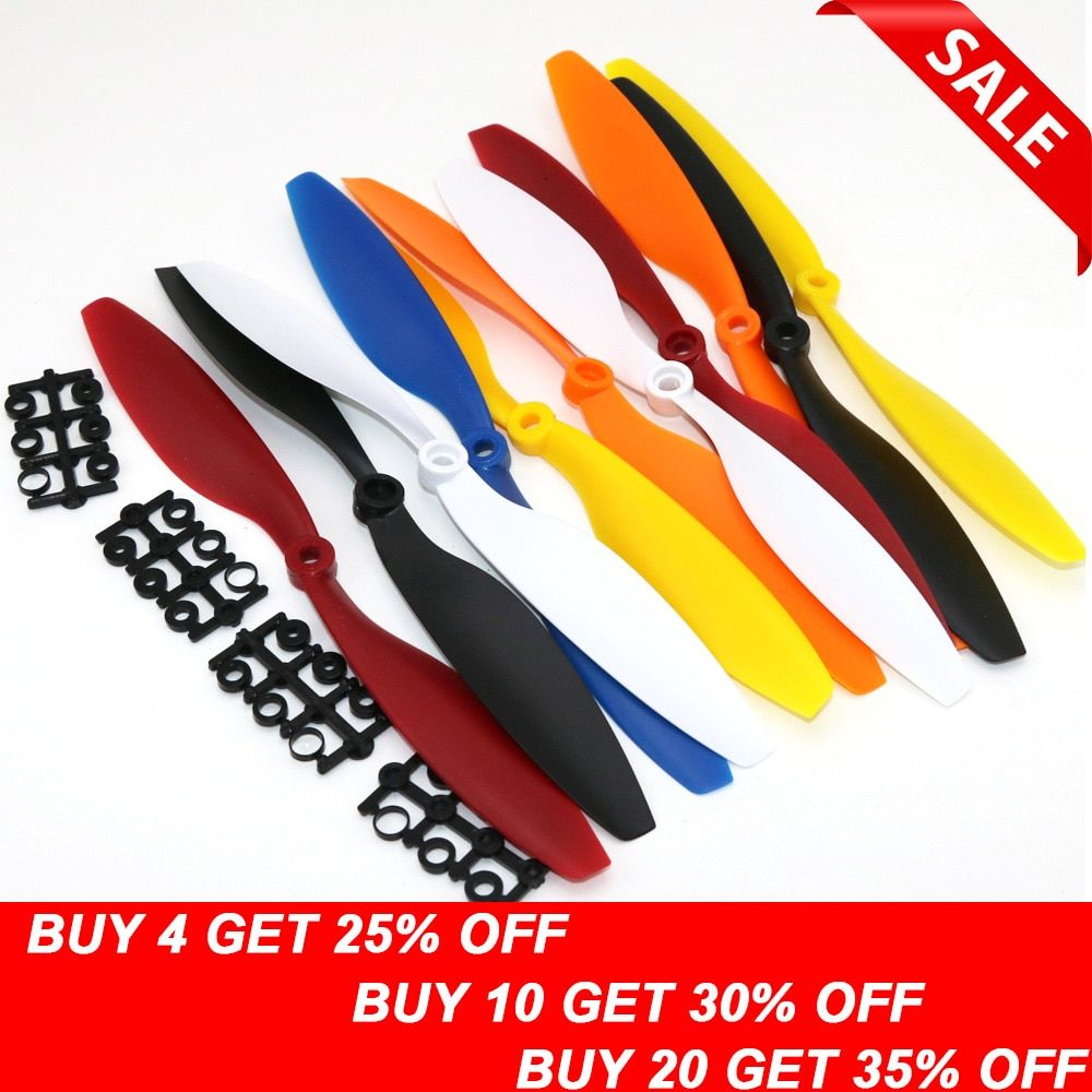 "10pcs/lot 10x4.5"" 1045 1045R CW CCW Propeller for  F450 500 F550 FPV Multi-Copter RC QuadCopter APC (5 pair)"