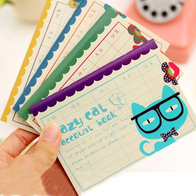 Cute Cat Planner Pocket Mini Small Personal Diary Note School Notebooks And Journals Paper Books School Office Supplies Z-009