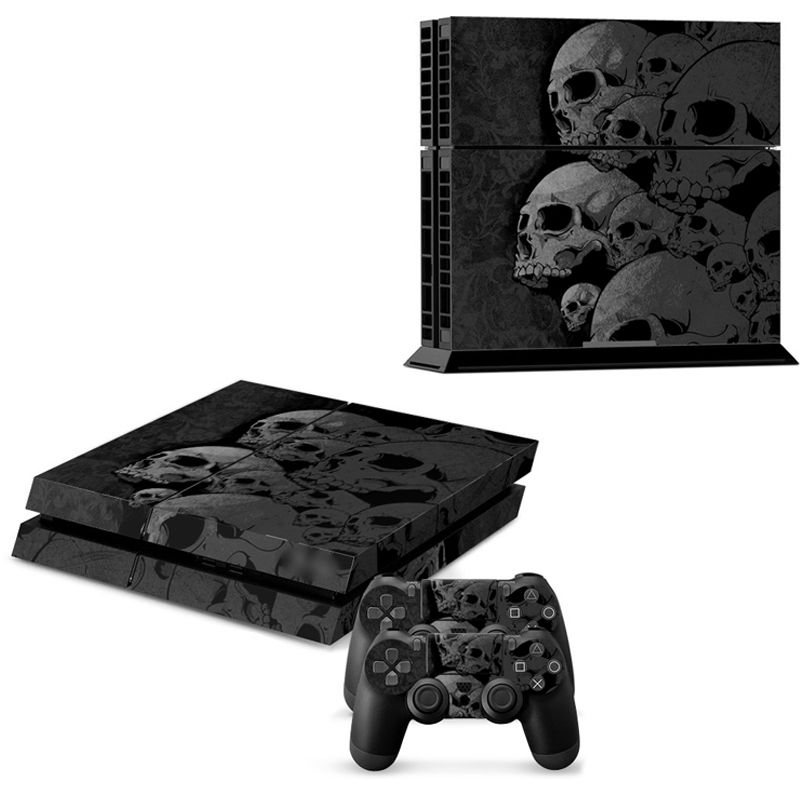 ps4 skin Skull new Style Skin Sticker For play station 4 For Playstation 4 PS4 Console and Cover Decals Of 2 Controller