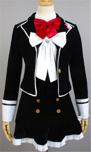 DIABOLIK LOVERS Yui Komori Cosplay Costume School Uniform Customized Halloween costume free shipping