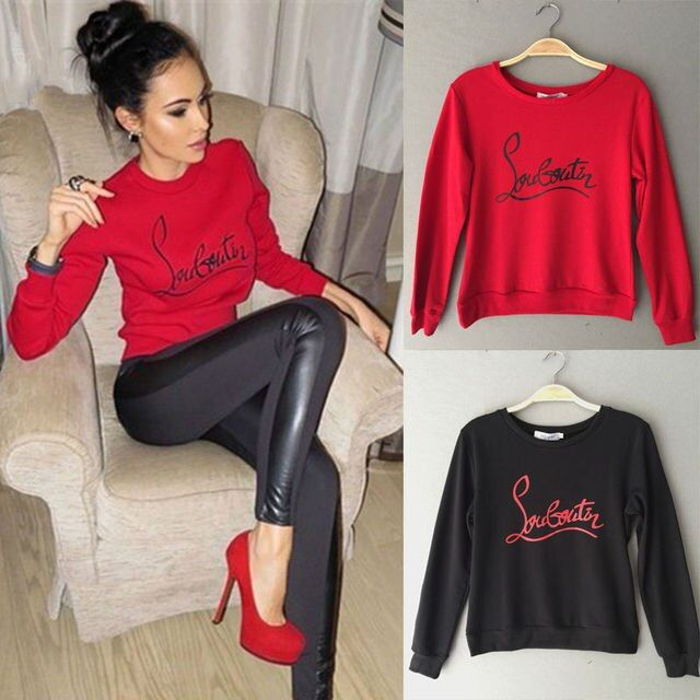 Fashion Women Casual Cute Long Sleeve Hoodies Jumper Pullover Sweatshirt Tops Shirt Tracksuit