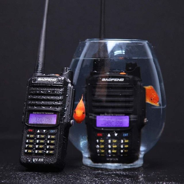 10W High Power 4800mAh Li-ion Battery IP67 Waterproof Baofeng UV-XR Dual Band Walkie Talkiie Long Range Two Way Radio UHF VHF