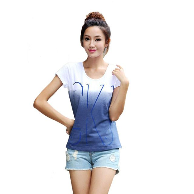 2017 Brand New Cotton Women Short Sleeve T-shirts O-neck Causal Loose Print T shirt Summer Tops For Women Top Tees