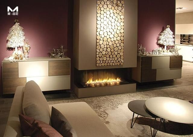 on sale 60'' ethanol fireplace with remote control lareira