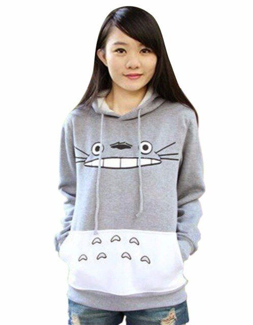 Autumn Hoodies Sweatshirt Hoodie Top Pullover Tops Cartoon Full Sleeve Drawstring Pockets Casual Unisex Fleece Hoodies Harajuku