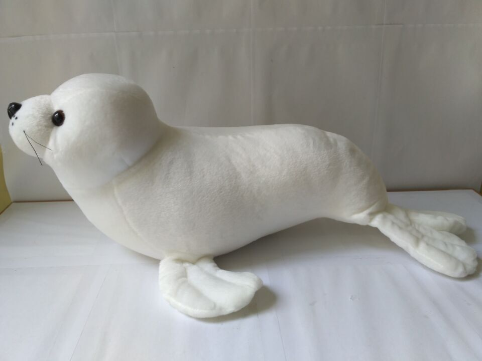 big new Plush sea lion toy stuffed white high quality sea lion doll birthday gift about 60cm