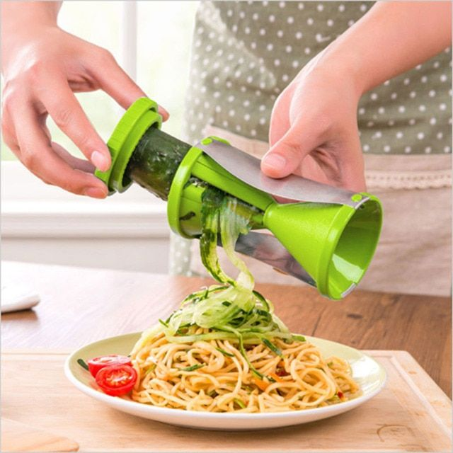 Vegetable Spiral Slicer Carrot Cucumber Noodle Julienne Cutter Kitchen Grater Slicer Twister Tool D0236