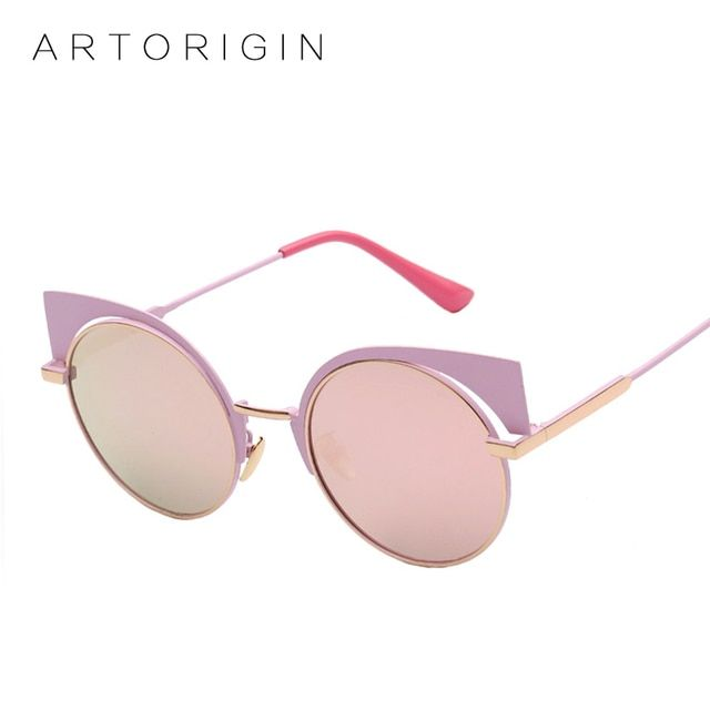 Exaggeration Women Cat Eye Sunglasses Round Mirror Glasses For Women EYESHINE Sunglass Brand Designer 2016 New Arrival AO1882