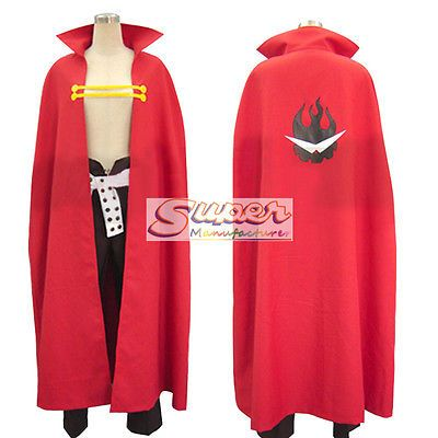 DJ DESIGN Gurren Lagann Kamina Uniform COS Cloth Cosplay Costume