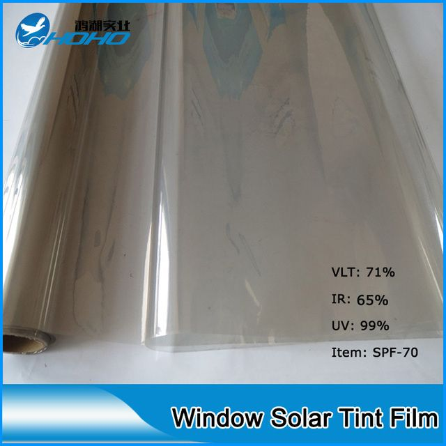 1.52mx20m Home window solar reflective film 70% VLT and 99% UV rejection Solar control window film for car window building glass