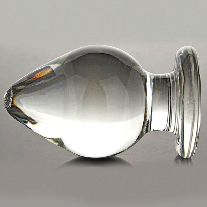 Large Huge Head Glass Anal Plugs G-spot Crystal Anal Plug Super Big Size Pyrex Glass Anal Dildo sex toys for men gay erotic sex