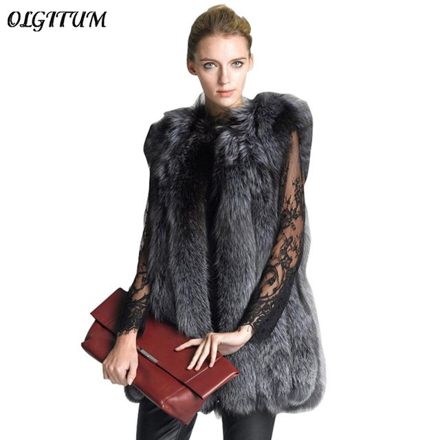 Hot Sale 2017 New Fashion Autumn/Winter Women Fake Fur Coat Women Loose Fake Fur Vests Jacket Long warm Parkas S-3XL