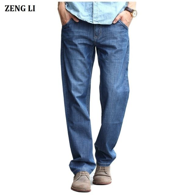 ZENGLI Men's Classic Jeans Straight Full Length Casual Brand Spring Denim Jeans Man Trouser Autumn Cowboy Pant Big Size 28-48