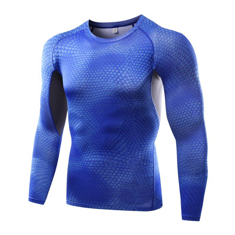Gym Fitness Men T Shirt Sport Compression Men Training Tops