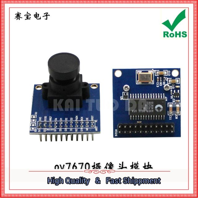 Free Shipping 1pcs Ov7670 camera module with AL422 FIFO with LD0 with source crystal board (C4B4)