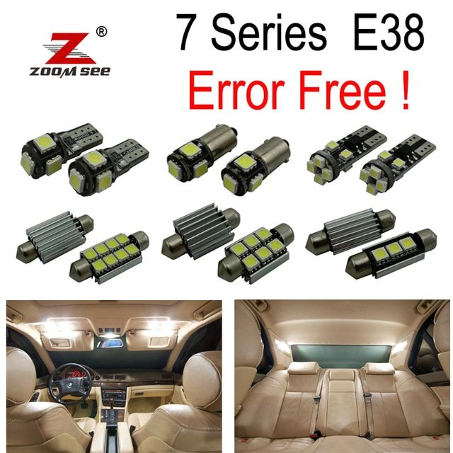20pc XCanbus  LED Bulb Interior Light Kit signal lamp  for bmw 7 Series E38 740i,740iL,750iL (1995-2001)