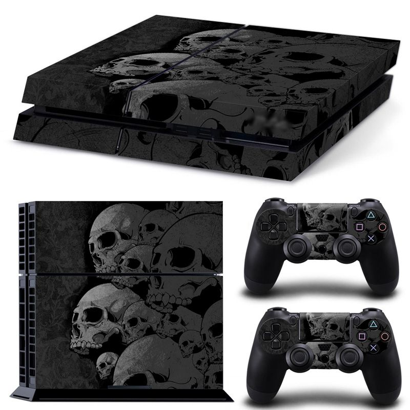 ps4 skin Skull new Style Skin Sticker Cover For play station 4 For Playstation 4 PS4 Console and Cover Decals Of 2 Controllers