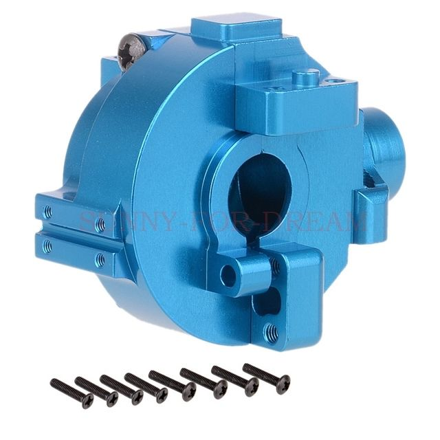 NEW ENRON HSP Upgrade Parts RC 1/10 Aluminum GEAR BOX HOUSING 122075 Blue