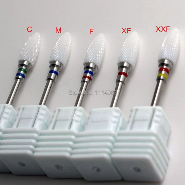 10pcs Professional Nail Brush Files or Ceramic Manicure Bit Nail Drill Tools or Nail Art Tools or Nail File Buffer Cutter