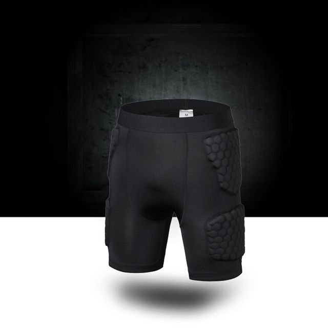 Yuerlian Soccer Rugby Basketball Armor Short Legging Anti Crash Sportwear Sport Safety Short Honeycomb Pad Basketball Shorts