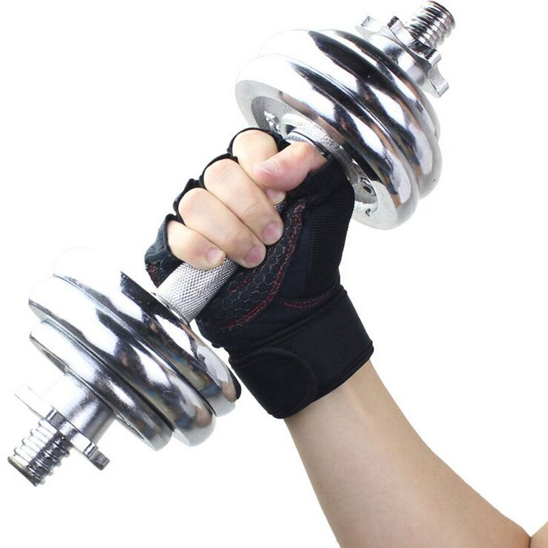High Quality Strong Fitness Gloves & Mitten Academia Power Weight Dumbbell Crossfit Gloves Barbell Fingerless Half Finger Gloves