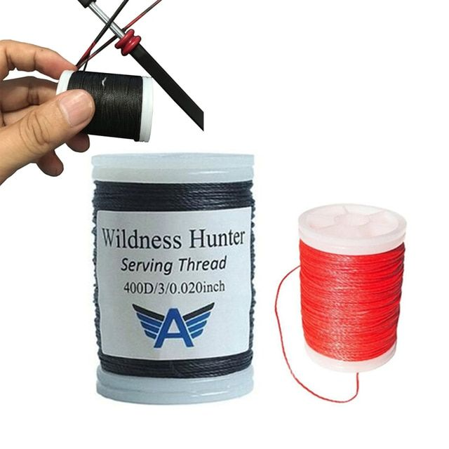 "120m/Roll Archery Bowstring Serving Thread 0.02"" Thickness 400D Serving for Various Bow string Archery Supplies Protect String"