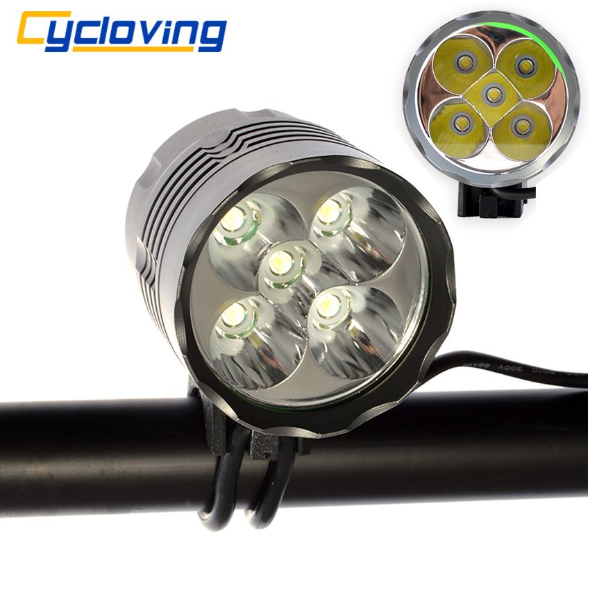 Cycloving 5T6 Bike Bicycle Light 6000 Lumen LED Head light Cycling Headlight Aluminum Waterproof luces bicicleta accessories