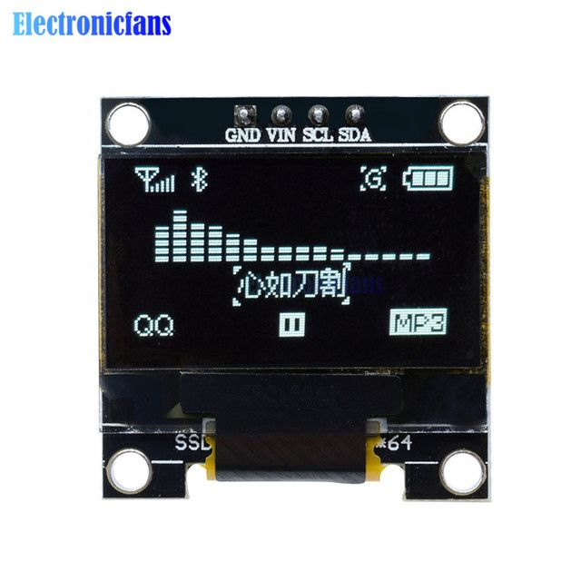 "0.96"" I2C IIC Serial 128X64 128*64 White OLED LCD LED Display Module SSD1306 12864 3V~ 5V DC 0.96"" SPI Serial Module For Arduino"