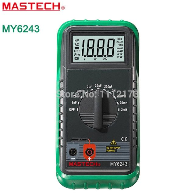 MASTECH MY6243 Handheld 3 1/2 Digital multimeter henrymeter capacitance meter tester 1pF to 200uF/1uH to 2H free shipping