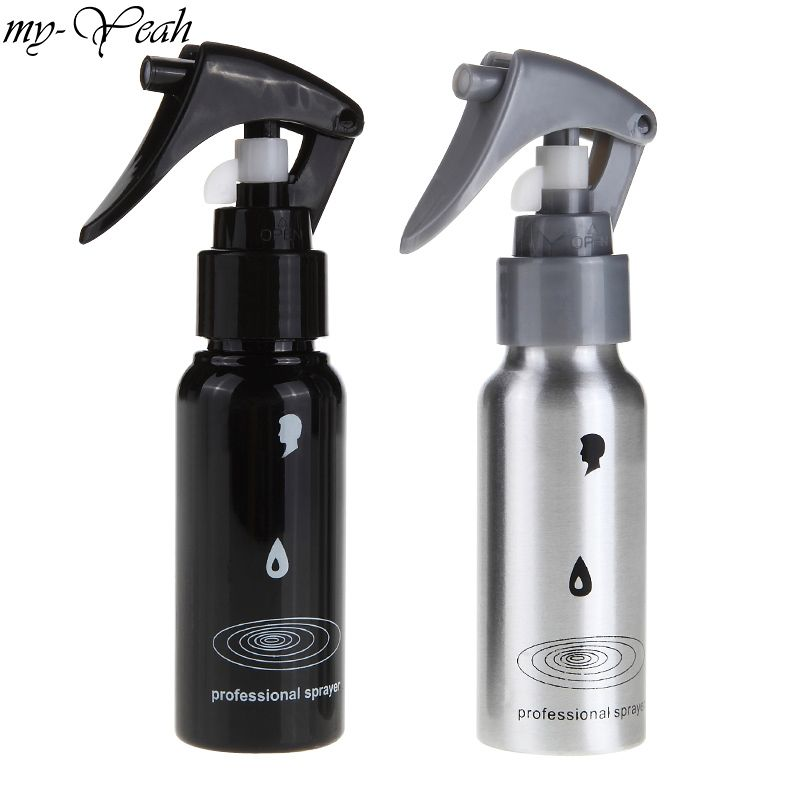 2 Color 60ml Hair Salon Refillable Spray Bottle Pro Hairdressing Plastic Sprayer Empty Water Bottle Barber Styling Tools
