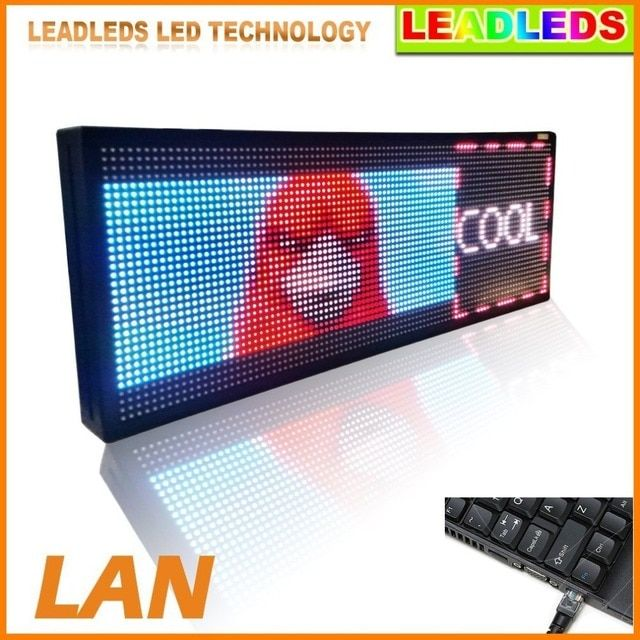 32*128Dots Indoor Semi- Outdoor HD video LED Display board -Semi Outdoor Scrolling  RGB Full Color Led Advertising Text LED SIGN