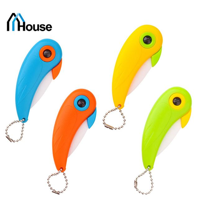 New Design! 1Pcs Bird figure Folding Ceramic Knife Fruit Vegetable Cutting Paring Mini Knives Portable Convinience Safety