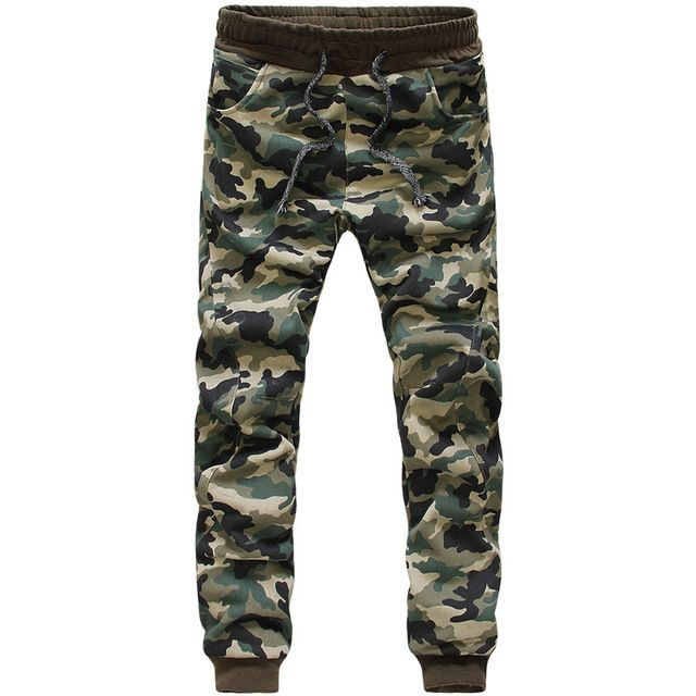 Men Casual Pants 2016 Fashion Camouflage Printed Straight Skinny Trousers Male Brand-Clothing Jogger Cargo Sweatpants D052