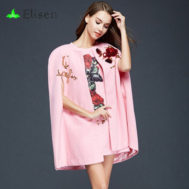 2 Piece 2016 Summer European Pink / White Street Sweet Sleeveless Mini Embroidery Sequined Pockets Dress+Off Sleeve Cloak Sets