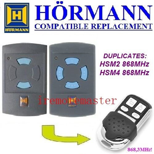 Hormann HSM2 868,HSM4 868mhz replacement remote control top quality