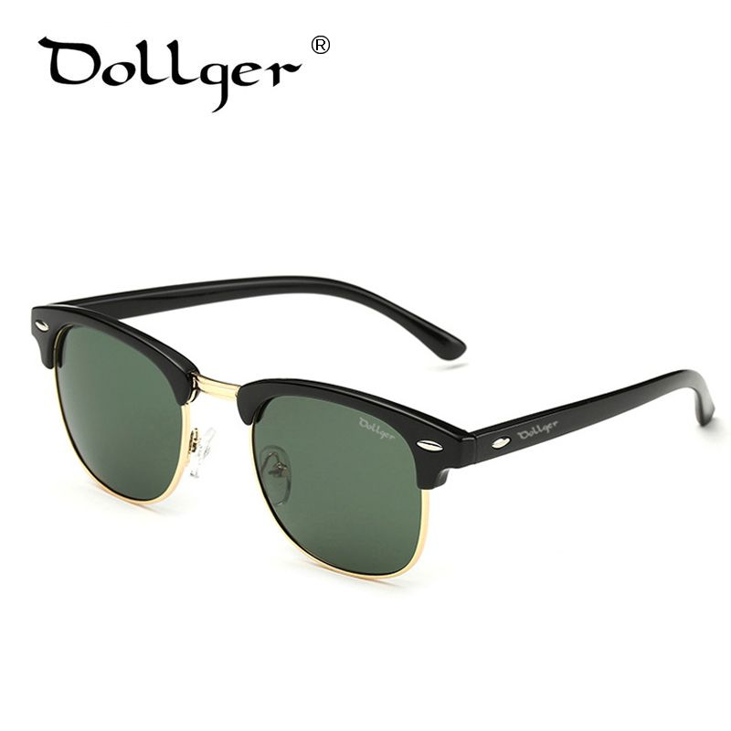 Dollger Polarized Sunglasses For Men Women Brand Designer Vintage Half Metal Classic Style Mens Womens Sun Glasses Gafas D0303
