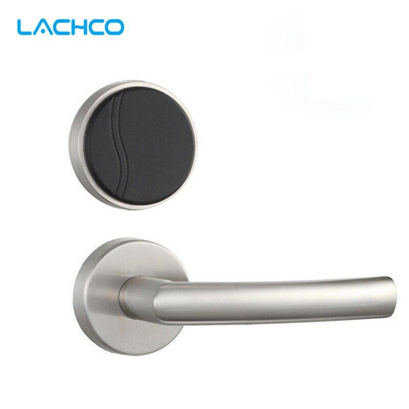 LACHCO Smart Electronic Card Door Lock RFID Card Keyless Lock For Home Hotel Office Room Free-style Handle L16062STC