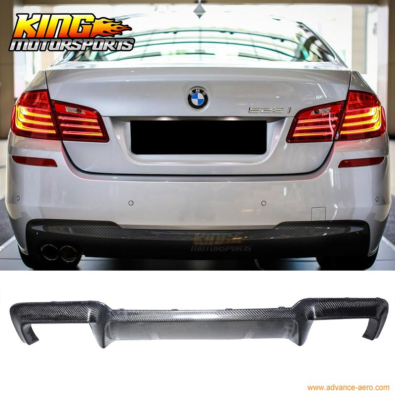 For 2010-2016 BMW F10 5-Series M5 Factory Style Rear Bumper Diffuser - Carbon Fiber