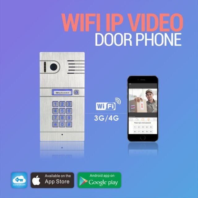 The world first 3G 4G/WiFi IP intercom system two-way intercom remotely unlock door via smartphones global video door phone