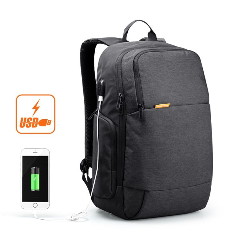 kingsons 15.6 inch laptop men backpack business travel bags anti theft with usb charger waterproof mochila escolar feminina