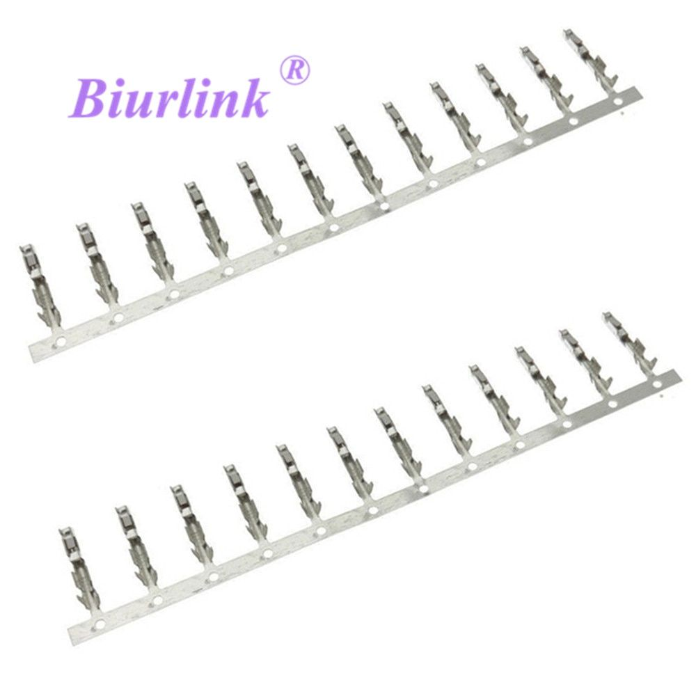 Biurlink 100 X AUX Audio Cable Harness Wiring Terminal Block Socket Connector Pins for Peugeot RD4 Ford Focus