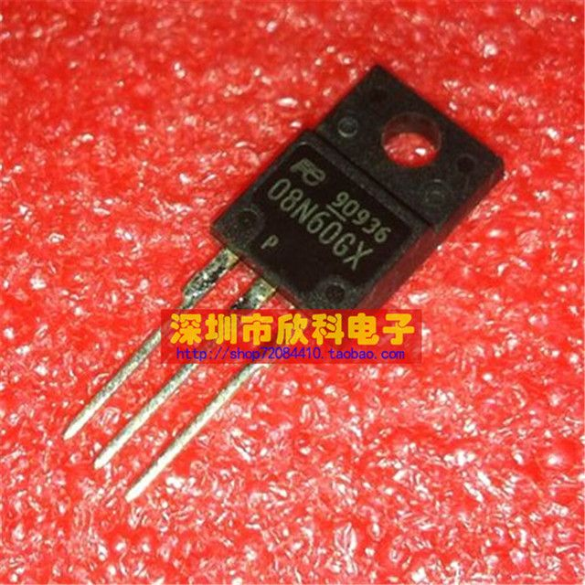 10pcs/lot free shipping 08N60GX 8A 600V LCD MOSFET TO-220F common plastic new original Immediate delivery