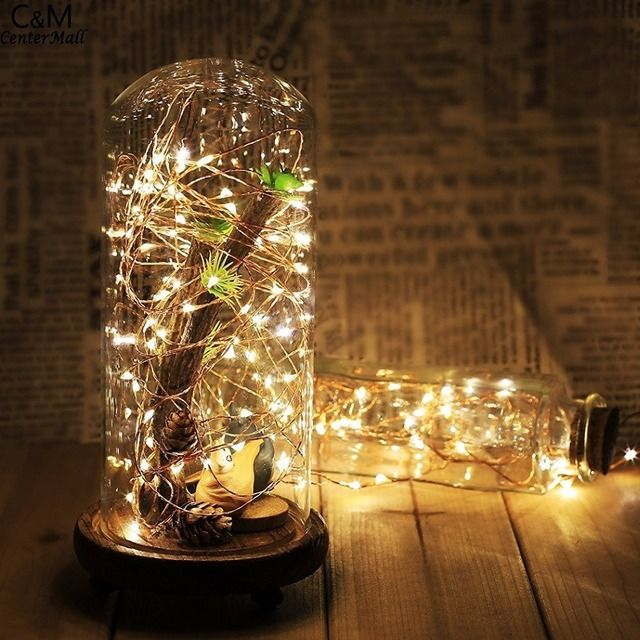Magicnight [3 Sets] 20 LEDs Copper Wire lights 7Ft/2M string lights for Christmas light festival wedding party included battery