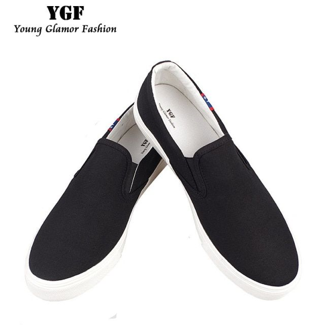 YGF British Style Men Canvas Shoes Solid Round Men's Vulcanize Shoes Summer Breathable Men Casual Shoes Canvas for Unisex
