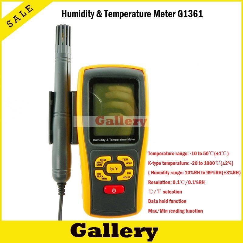 Thermostat Car Thermometer Digital Thermometer Humidity \u0026 Temperature Meter Gm1361 Can Be Accessed By K -type Thermocouple