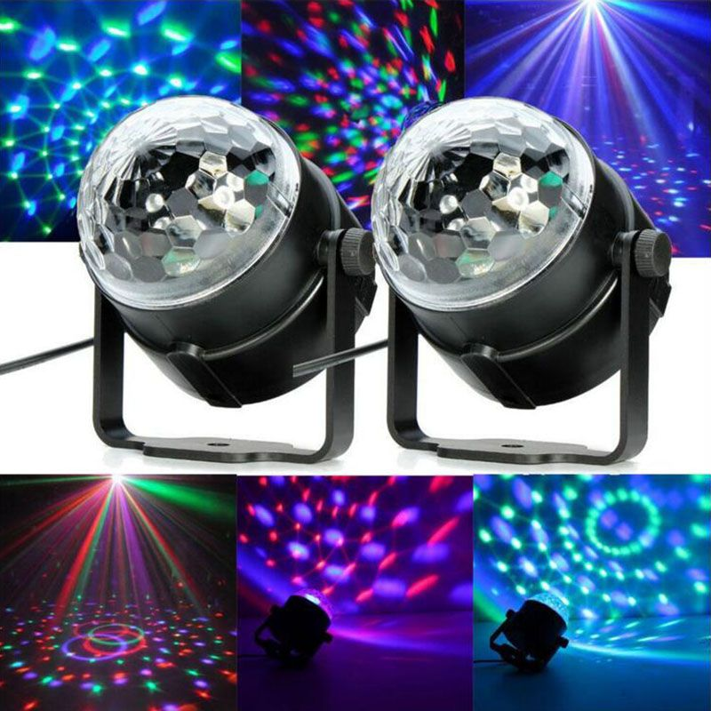 Lumiere Mini RGB LED Crystal Magic Ball Stage Effect Lighting Lamp Party Disco Club DJ Bar Light Show EU US Plug 110-240V
