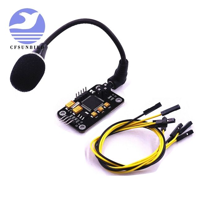 Free Shipping Speech Recognition Module Voice Recognition Module Serial Control Module with Micro and 4pin wire