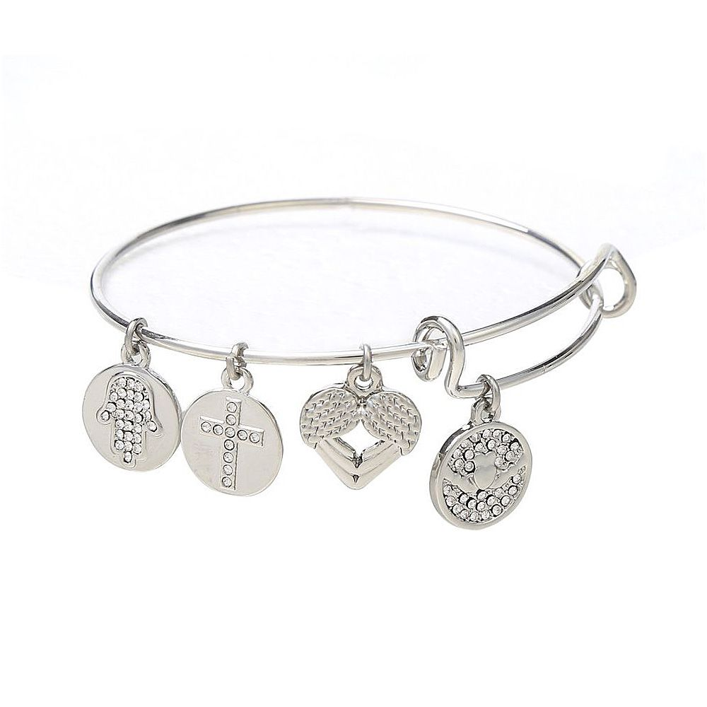 New Brand Heart Claddagh Charm Bangles Fashion Wire Bracelet Bangle fit Ireland Design for Mother's Day Gift