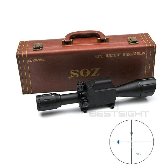 ZOS 6X42 Military Tactical Rifle Scope 30mm Tube Measure Distance Hunting Scope Optics Riflescope